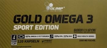 Eines der 5 besten und sinnvollen Supplemente - Omega 3 Fettsäuren von Olimp