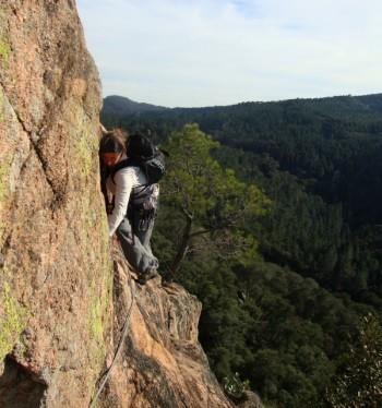 Nima beim Klettern