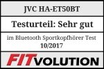 JVC HA-ET50BT Fitvolution Testsiegel 10-17