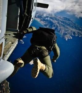 Komfortzone verlassen ist für viele ein Fallschirmsprung