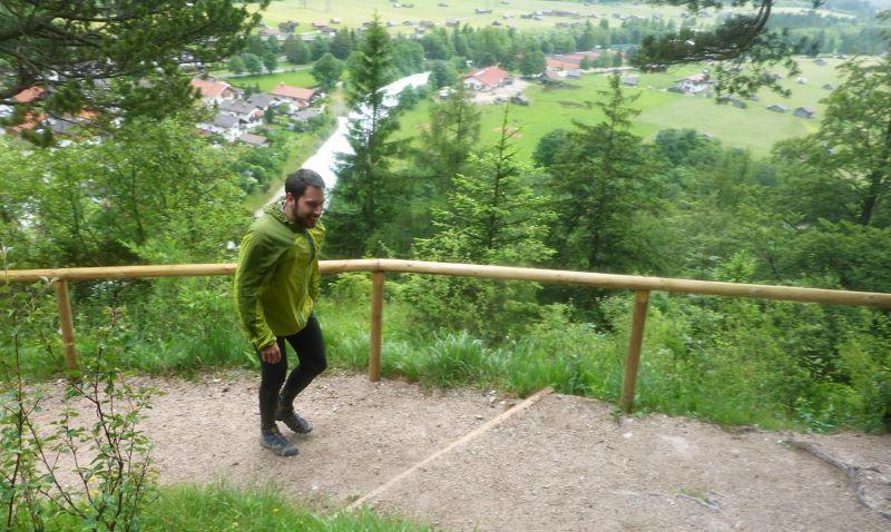 Impressionen vom Zugspitztrail - Aufstieg bei Mittenwald