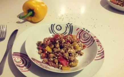 Linsen-Kichererbsen-Salat
