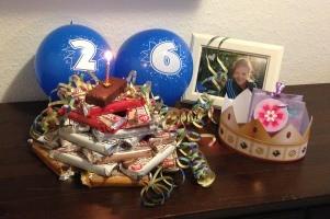 Proteinriegel Geburtstagstorte für Jenny