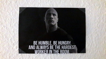 The Rock Motivationsposter an meiner Wand
