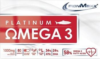Ironmaxx Platinum Omega 3 Fischöl Kapseln - Hochwertig und ohne Vitamin E