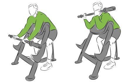 Isolationsübungen für Deinen Muskelaufbau - Bizeps Curls auf der Scott Bank