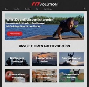 Fitvolution Homepage 2017 screenshot