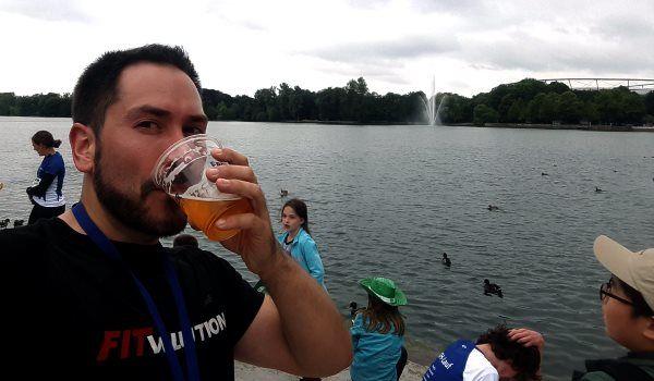 Alkoholfreies Finisher-Bier beim KKH-Lauf in Hannover
