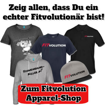 Fitvolution Sportshirts-shop feature sidebar CTA