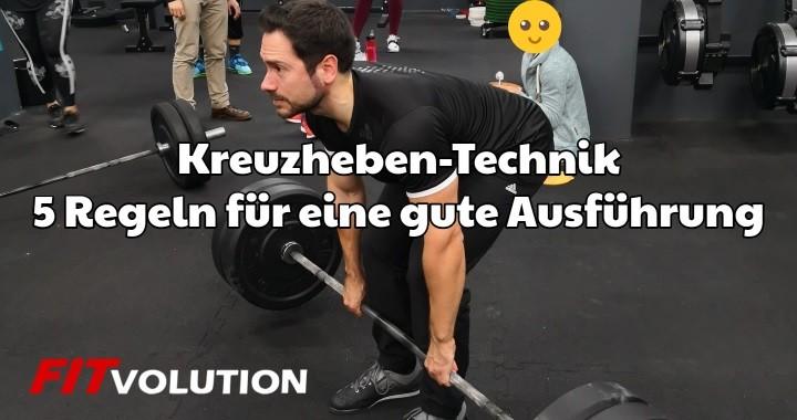 Kreuzheben-Technik – 5 Regeln für eine gute Ausführung
