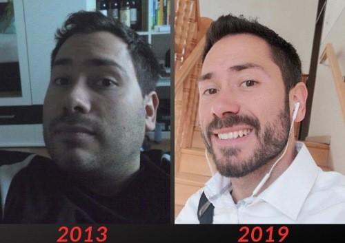Über Mich Veränderung 2013 bis 2019