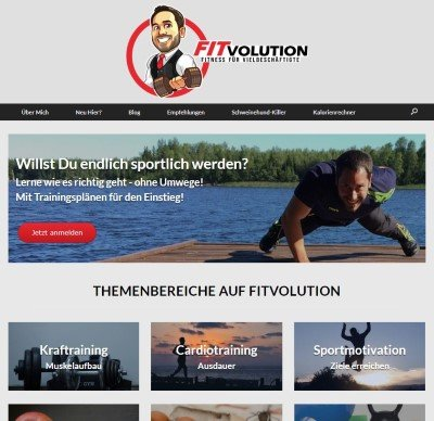Screenshot Fitvolution Neu 2020