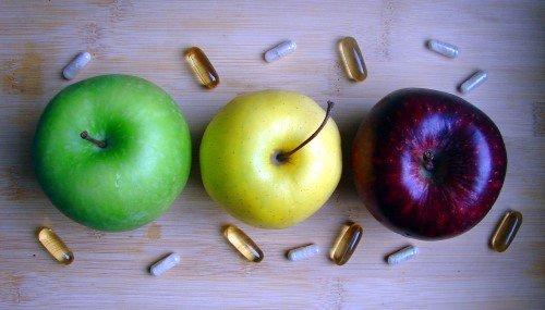 Eine ausgewogene Ernährung und Nahrungsergänzungen nicht oder