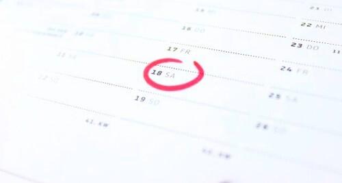 Es ist smart sich sein Ziel im Kalender festzuhalten