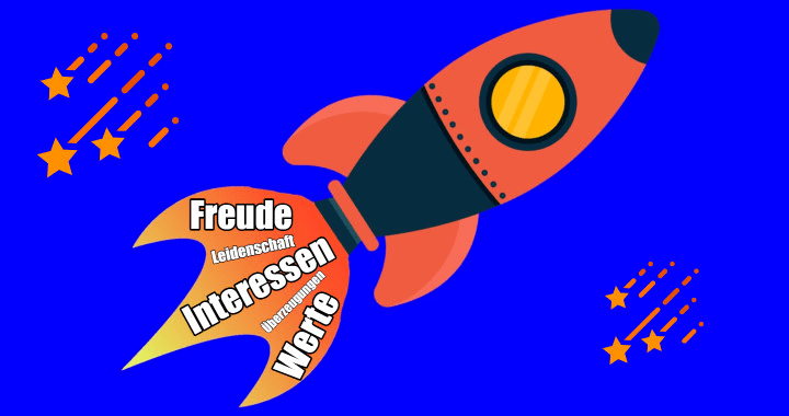 Rakete mit großem Antrieb aus intrinsischer Motivation