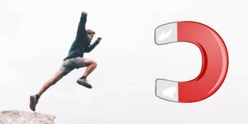 Dranbleiben durch ein Ziel wie ein Magnet - easy am Ball bleiben
